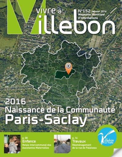 Vivre à Villebon n°152 - janvier 2016