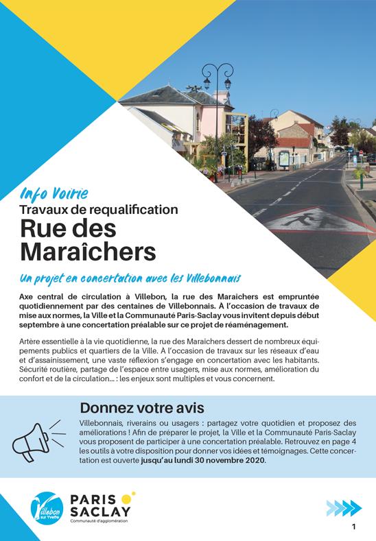 Info Voirie - Travaux de requalification rue des Maraîchers