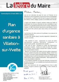 Lettre du Maire - Plan d'urgence sanitaire
