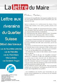 Lettre du Maire - Requalification des rues du quartier Suisse