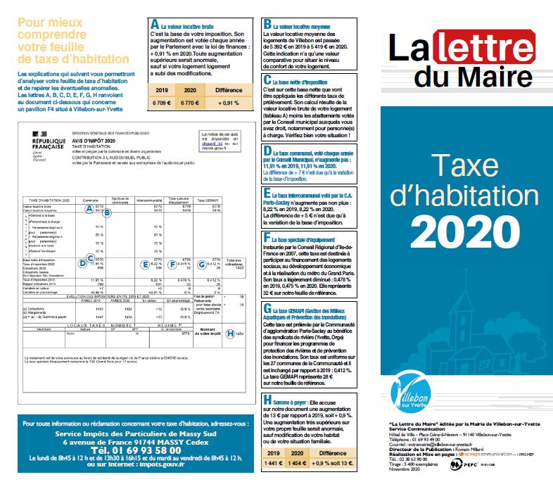 Lettre du Maire - Taxe d'Habitation 2020