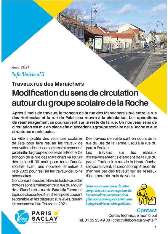 Info Voirie #5 - Travaux rue des Maraîchers