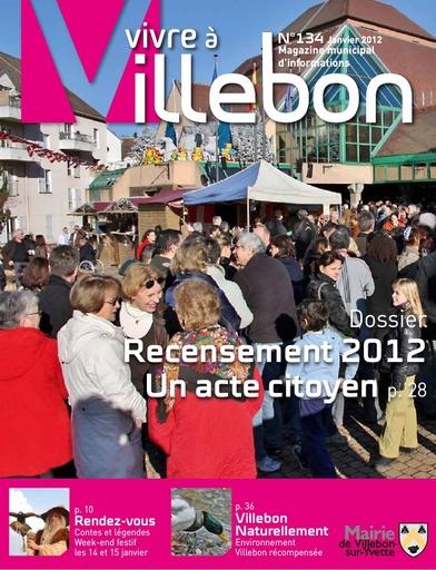 Vivre à Villebon n°134 - janvier 2012