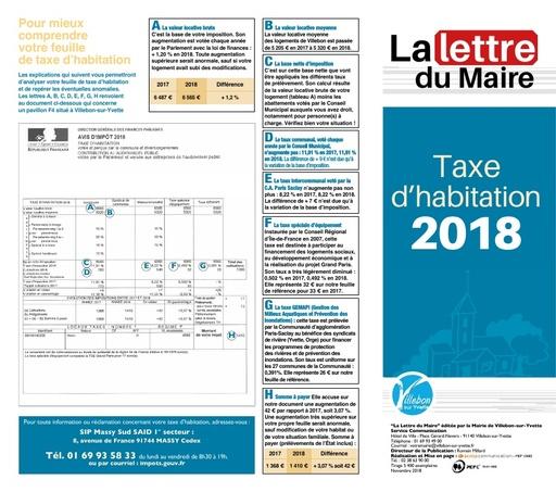 Taxe d'habitation - novembre 2018