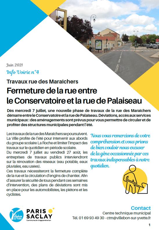 Info Voirie #4 - Travaux rue des Maraîchers