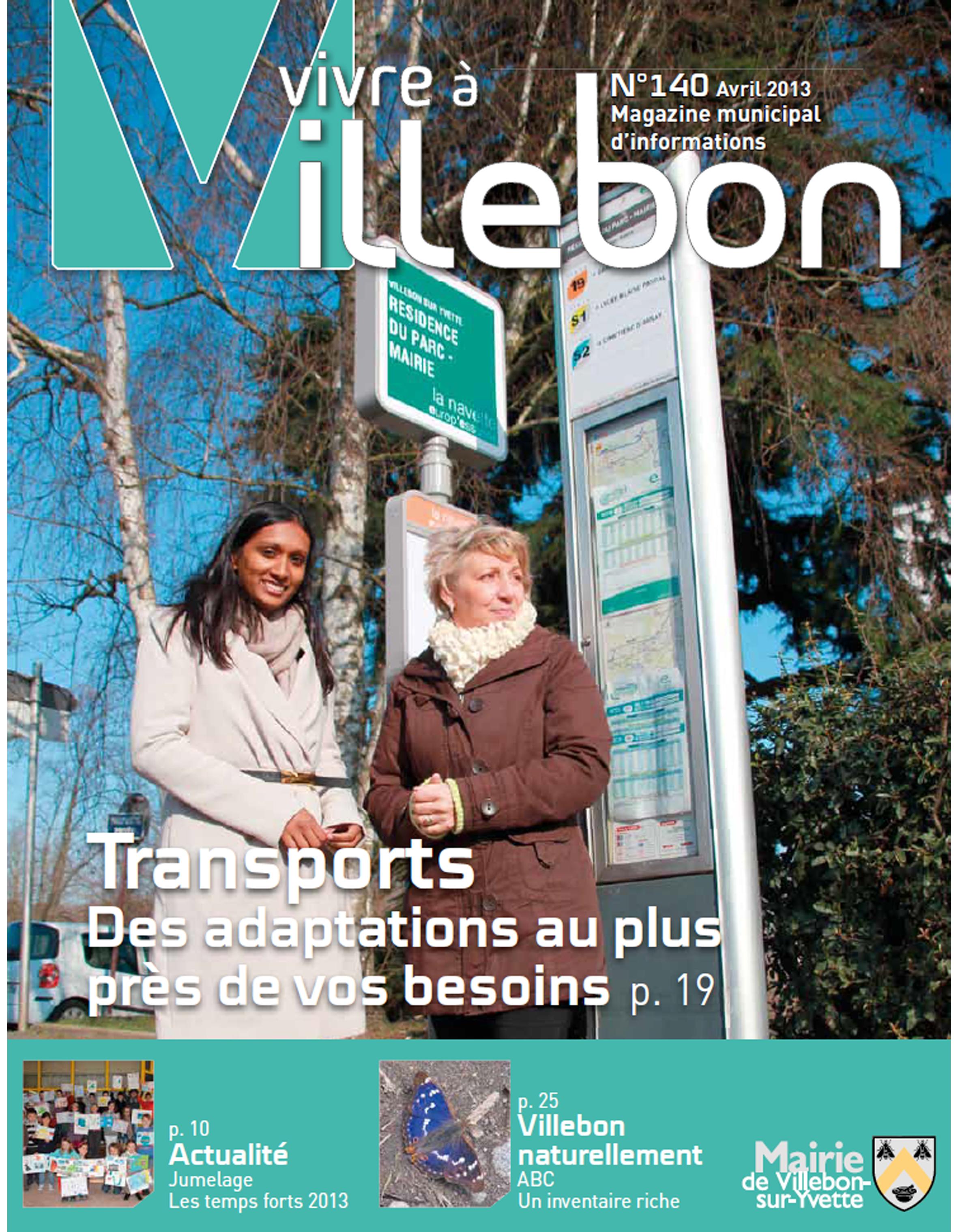 Vivre à Villebon n°140 - avril 2013