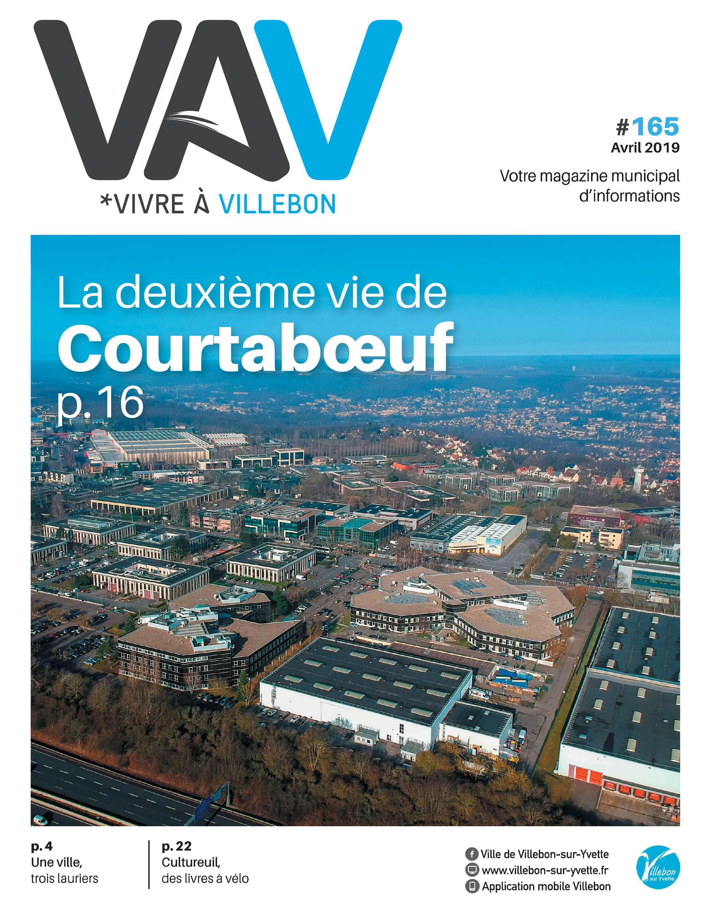 Vivre a Villebon n°165 - avril 2019